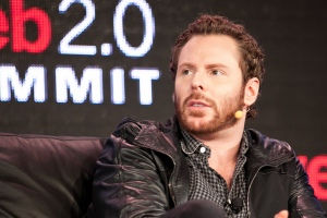 Photo of Sean Parker at Web 2.0 Summit