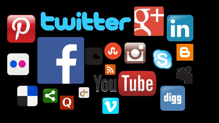 A collection of social media logos