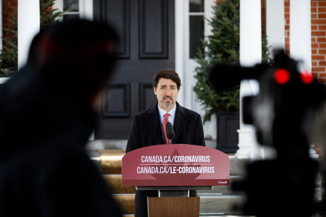 Prime Minister's Press Conference outside Rideau Cottage